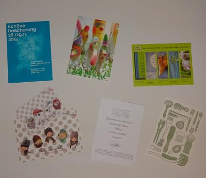 Postkarten - mit passender Visitenkarte © Bürodienste in