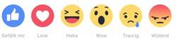 """Symbolreihe für den """"Gefällt mir"""" auf Facebook"""