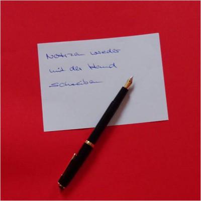 Mehr mit der Hand schreiben - das Gehirn trainieren © Bürodienste-in