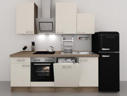 Küchenzeile mit Retro- Kühlschrank  gefunden bei smartmoebel.de.